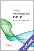 Cover of Tolley's Inheritance Tax 2020-21 (Book & eBook Pack)