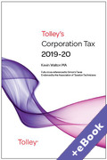 Cover of Tolley's Corporation Tax 2020-21 - Main Annual (Book & eBook Pack)