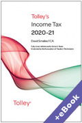 Cover of Tolley's Income Tax 2020-21 (Book & eBook Pack)