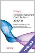 Cover of Tolley's National Insurance Contributions 2020-21 (Book & eBook Pack)