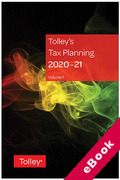 Cover of Tolley's Tax Planning 2020-21 (eBook)