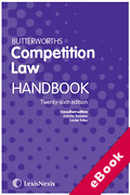 Cover of Butterworths Competition Law Handbook (eBook)