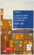 Cover of Tolley's Customs and Excise Duties Handbook Set 2021-22