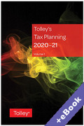 Cover of Tolley's Tax Planning 2020-21 (Book & eBook Pack)