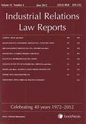 Cover of Industrial Relations Law Reports