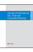 Cover of Journal of International Tax, Trust and Corporate Planning