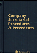 Cover of Butterworths Company Secretarial Procedures and Precedents Looseleaf Looseleaf (Pay-in-Advance Service)