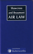 Cover of Shawcross and Beaumont: Air Law Looseleaf
