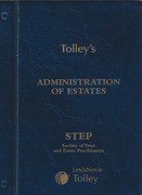 Cover of Tolley's Administration of Estates Looseleaf