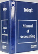 Cover of Tolley's Manual of Accounting Looseleaf