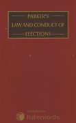 Cover of Parker's Law and Conduct of Elections Looseleaf
