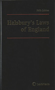 Cover of Halsbury's Laws of England 5th ed Current Service