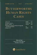 Cover of Butterworths Human Rights Cases Service