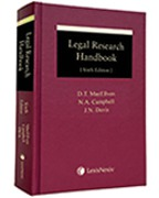 Cover of Legal Research Handbook