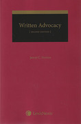 Cover of Written Advocacy