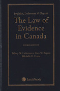 Cover of Sopinka, Lederman & Bryant: The Law of Evidence in Canada