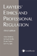 Cover of Lawyers' Ethics and Professional Regulation