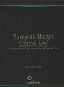 Cover of European Merger Control Law: A Guide to the Merger Regulation Looseleaf