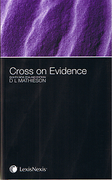 Cover of Cross on Evidence 8th New Zealand Edition
