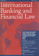 Cover of Butterworths Journal of International Banking and Financial Law