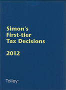 Cover of Simon's First-tier Tax Decisions