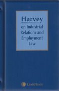 Cover of Harvey on Industrial Relations and Employment Law Looseleaf