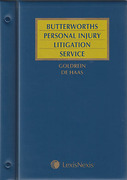 Cover of Butterworths Personal Injury Litigation Service Looseleaf Service