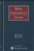 Cover of Ross: Commercial Leases Looseleaf