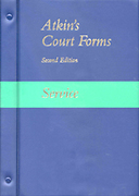 Cover of Atkin's Court Forms Looseleaf and CD Service