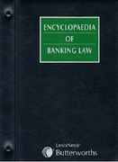 Cover of Encyclopaedia of Banking Law Looseleaf