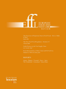Cover of European Food and Feed Law Review: Print Only