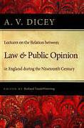 Cover of Lectures on the Relation Between Law and Public Opinion in England During the Nineteenth Century