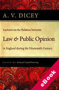 Cover of Lectures on the Relation Between Law and Public Opinion in England During the Nineteenth Century (eBook)
