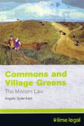 Cover of Commons and Village Greens: The Modern Law