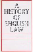 Cover of Sir William Searle Holdsworth: A History of English Law: Tables and Index to Volumes 1 - 9