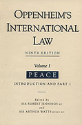 Cover of Oppenheim's International Law 9th ed: Volume 1 Peace (Hardback)