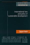 Cover of International Law and Policy of Sustainable Development