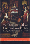 Cover of Intellectual and Cultural World of the Early Modern Inns of Court