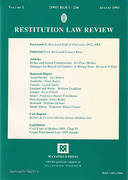 Cover of Restitution Law Review Volume 1
