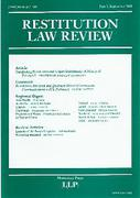 Cover of Restitution Law Review Volume 8 Part 3