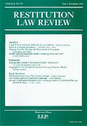 Cover of Restitution Law Review Volume 8 Part 4