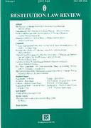 Cover of Restitution Law Review Volume 9