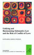 Cover of Unifying and Harmonising Substantive Law and the Role of Conflict of Laws