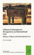 Cover of Chinese Contemporary Perspectives on International Law: History, Culture and International Law