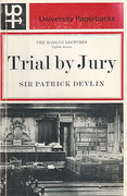 Cover of The Hamlyn Lectures: Trial by Jury