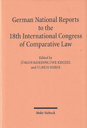 Cover of German National Reports to the 18th International Congress of Comparative Law