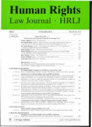 Cover of Human Rights Law Journal