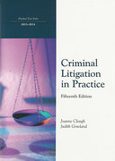 Cover of Northumbria LPC: Criminal Litigation in Practice 2013-2014