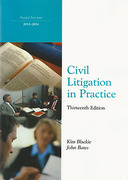 Cover of Northumbria LPC: Civil Litigation in Practice 2013-2014