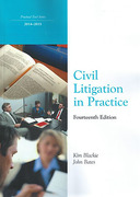 Cover of Northumbria LPC: Civil Litigation in Practice 2014-2015